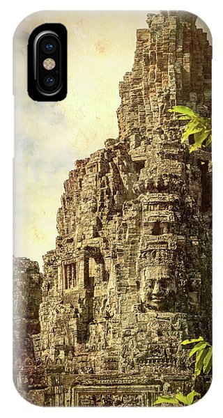 Angkor Thom iPhone Case - Bayon Tower #1 by Stephen Stookey