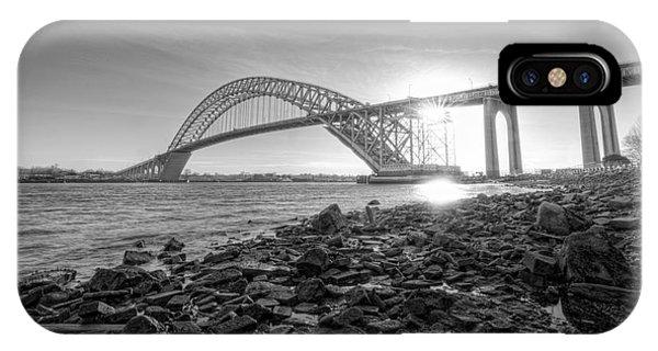 Bayonne Bridge Black And White IPhone Case
