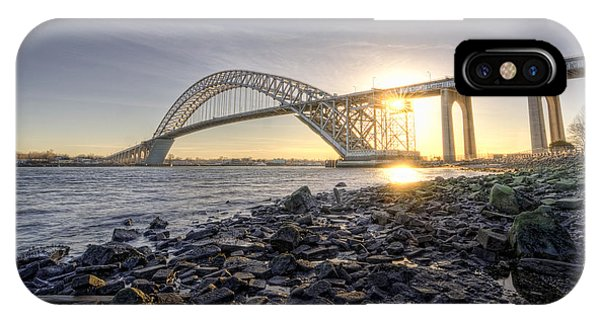 Bayonne Bridge Sunset IPhone Case