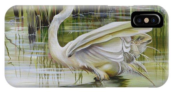 Bayou Caddy Great Egret IPhone Case