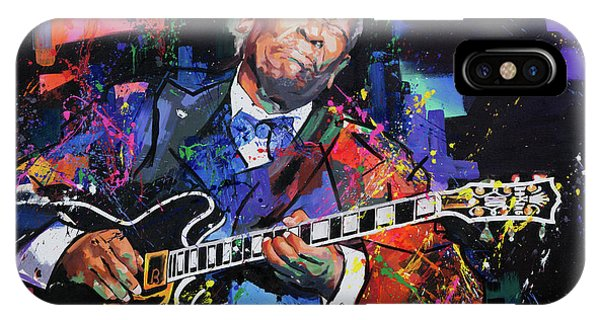 Figurative iPhone Case - Bb King by Richard Day
