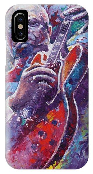 Blues Legends iPhone Case - B.b.king 2 by Yuriy Shevchuk
