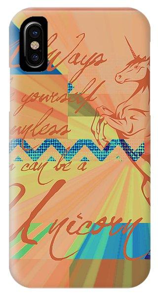 Unicorn iPhone Case - Be A Unicorn 3 by Brandi Fitzgerald