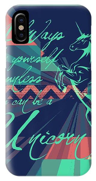 Unicorn iPhone Case - Be A Unicorn 2 by Brandi Fitzgerald