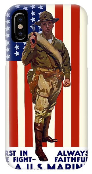 American Flag iPhone Case - Be A Us Marine by War Is Hell Store