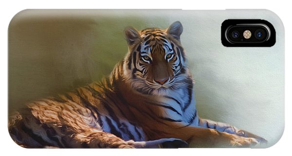Be Calm In Your Heart - Tiger Art IPhone Case