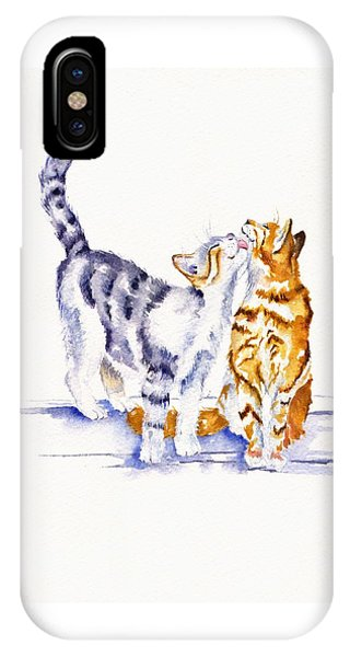 Cat iPhone X Case - Be Cherished by Debra Hall