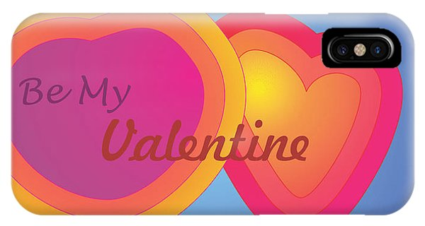 Be My Valentine Card IPhone Case