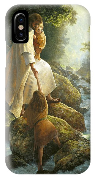 River iPhone Case - Be Not Afraid by Greg Olsen