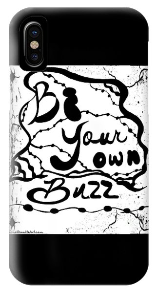IPhone Case featuring the drawing Be Your Own Buzz by Rachel Maynard