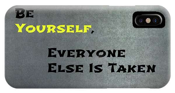 Be Yourself #1 IPhone Case