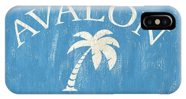 Nautical iPhone Case - Beach Badge Avalon by Debbie DeWitt