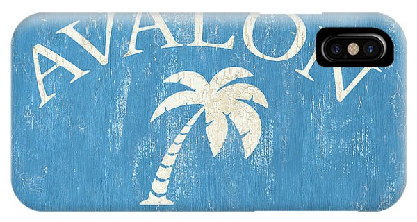 New Jersey iPhone Case - Beach Badge Avalon by Debbie DeWitt