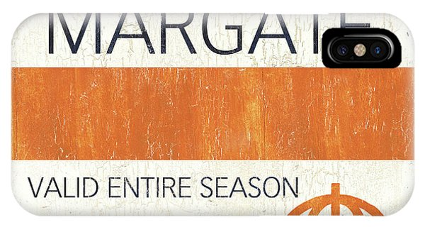 New Jersey iPhone Case - Beach Badge Margate by Debbie DeWitt