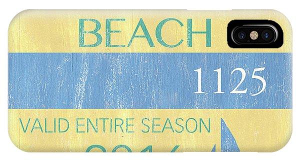 Beach Badge Normandy Beach 2 IPhone Case