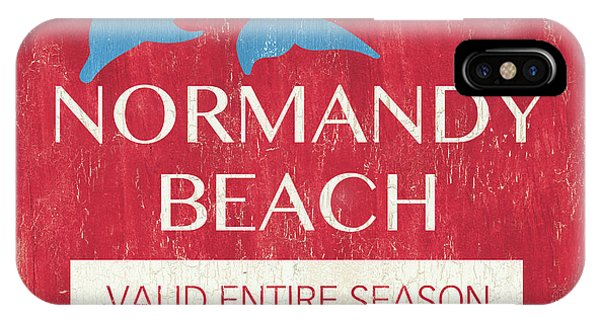 New Jersey iPhone Case - Beach Badge Normandy Beach by Debbie DeWitt