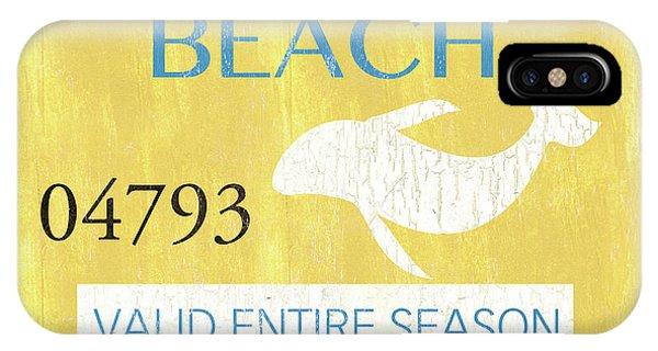 Relaxation iPhone Case - Beach Badge Rehoboth Beach by Debbie DeWitt