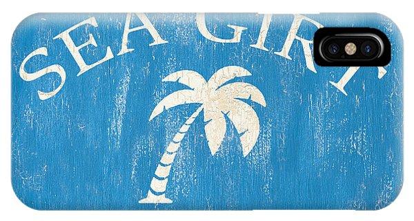 Nautical iPhone Case - Beach Badge Sea Girt by Debbie DeWitt