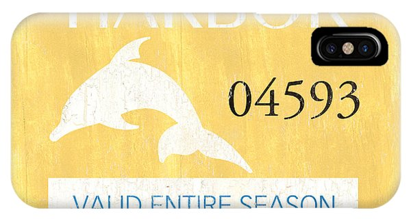 Dolphin iPhone Case - Beach Badge Stone Harbor by Debbie DeWitt