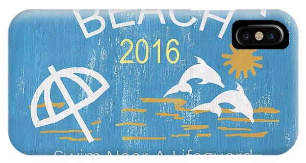 Relaxation iPhone Case - Beach Badge Virginia Beach by Debbie DeWitt