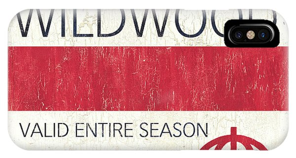 New Jersey iPhone Case - Beach Badge Wildwood 2 by Debbie DeWitt