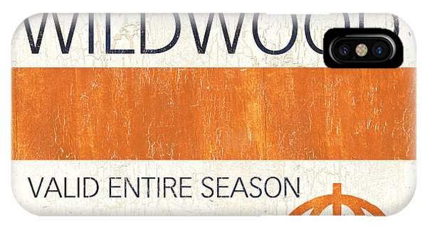 New Jersey iPhone Case - Beach Badge Wildwood by Debbie DeWitt