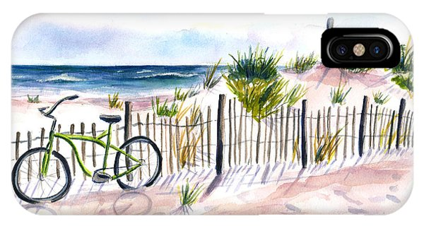 Beach Bike At Seaside IPhone Case