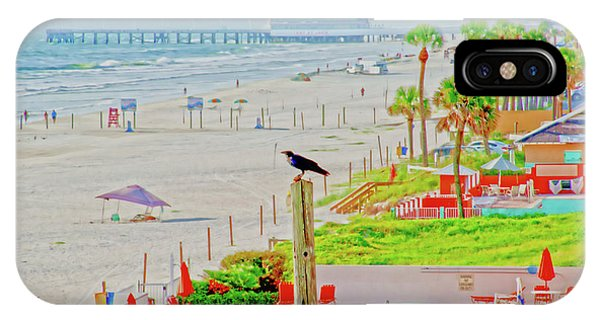 Beach Bird On A Pole IPhone Case
