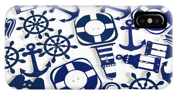 Navigation iPhone Case - Beach Blue Background by Jorgo Photography - Wall Art Gallery