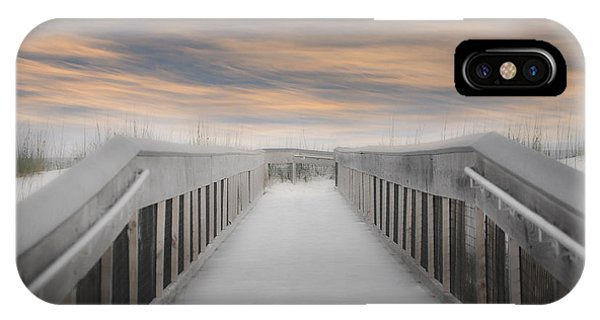 IPhone Case featuring the photograph Beach Boardwalk by Judy Hall-Folde