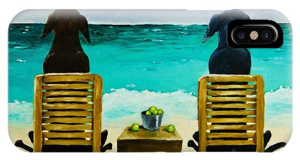Retriever iPhone Case - Beach Bums by Roger Wedegis