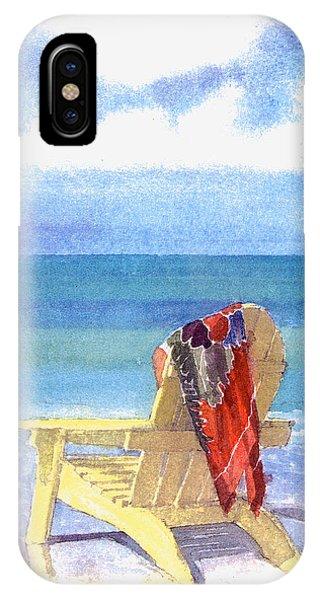 Beach Chair iPhone Case - Beach Chair by Shawn McLoughlin