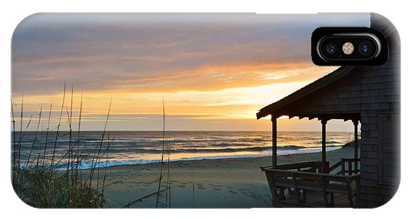 Beach Cottage Sunrise  IPhone Case