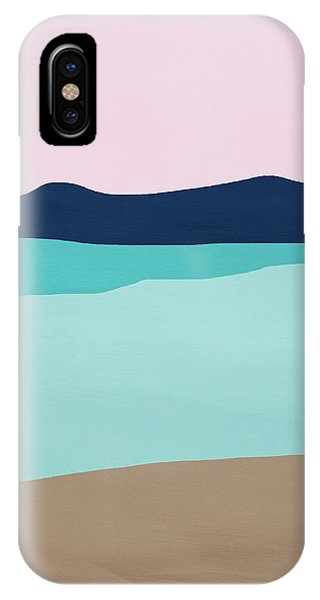 Pink iPhone Case - Beach Cove- Art By Linda Woods by Linda Woods