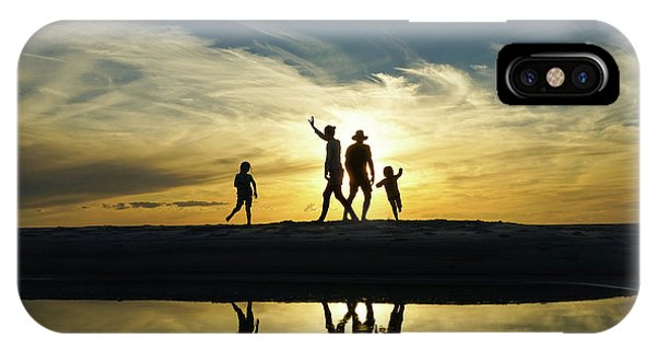 Beach Dancing At Sunset IPhone Case