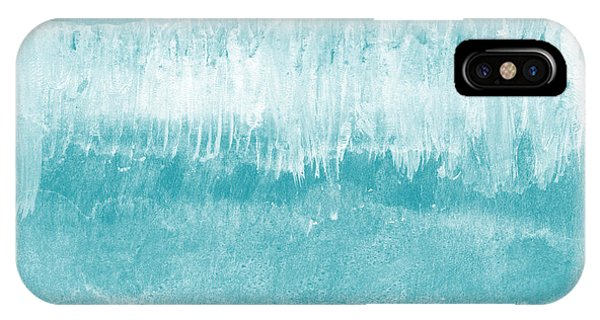 Waves iPhone Case - Beach Day Blue- Art By Linda Woods by Linda Woods