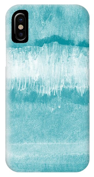 Aqua iPhone Case - Beach Day Blue- Art By Linda Woods by Linda Woods