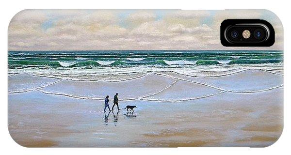 Beach Dog Walk IPhone Case