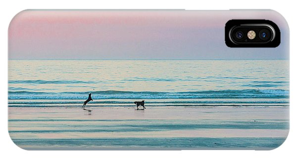 Beach Dogs Playing At Dawn IPhone Case