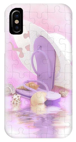 8abbd72637c5 Flip Flop iPhone Case - Beach Dreams by Tom Mc Nemar