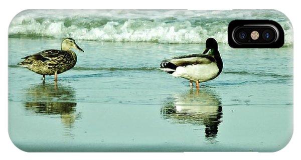 Beach Ducks IPhone Case