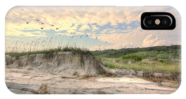 Beach Dunes And Gulls IPhone Case