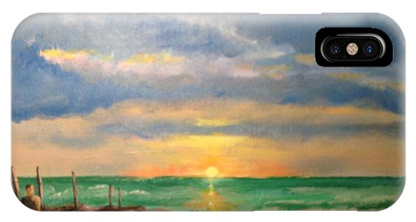 Beach End Of Day IPhone Case