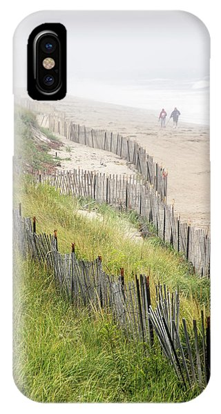 Beach Fences In A Storm IPhone Case