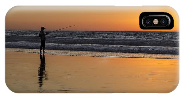 Beach Fishing At Sunset IPhone Case