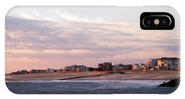 Oceanfront iPhone Case - Beach Front Homes Virginia Beach Va by Panoramic Images