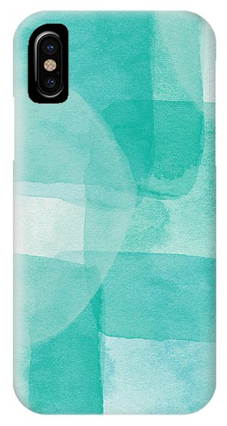 Aqua iPhone Case - Beach Glass- Abstract Art By Linda Woods by Linda Woods
