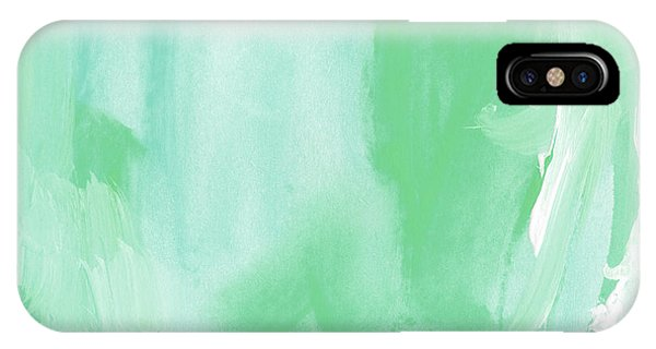 Aqua iPhone Case - Beach Glass Blues Abstract- Art By Linda Woods by Linda Woods