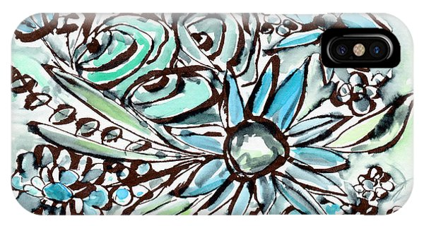 Nature Abstract iPhone Case - Beach Glass Flowers 1- Art By Linda Woods by Linda Woods