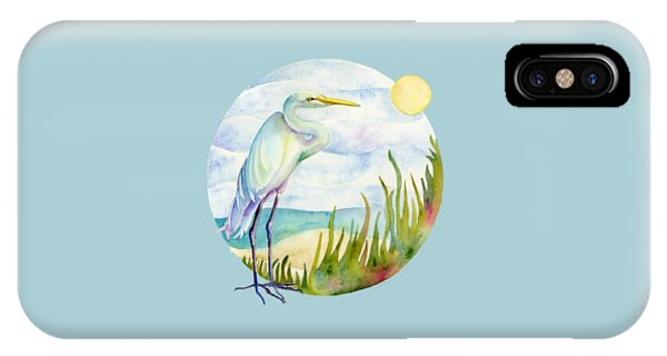 House iPhone Case - Beach Heron by Amy Kirkpatrick